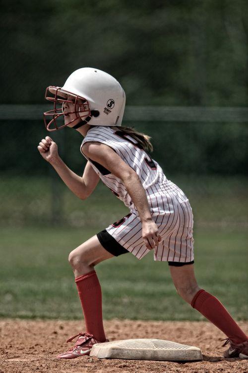 softball runner girl
