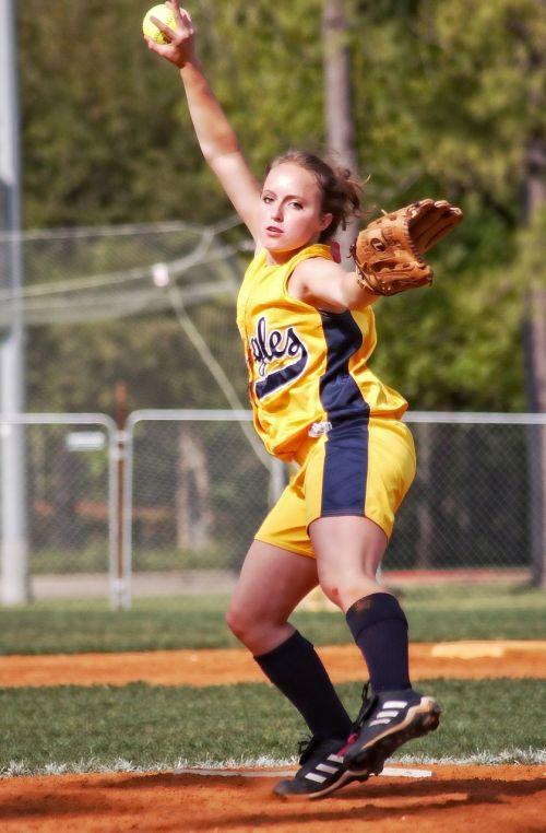 softball pitcher female