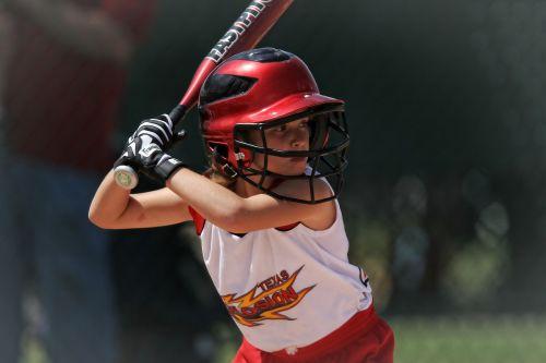 softball batter girl