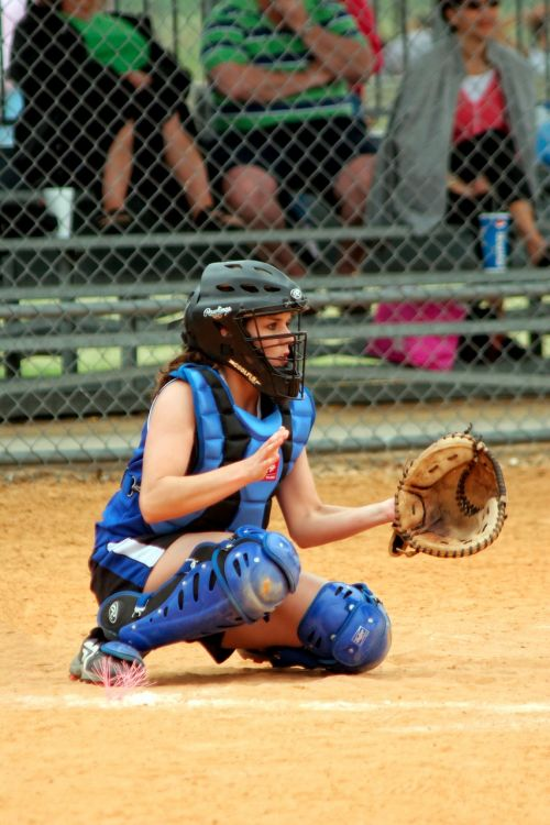 softball catcher female
