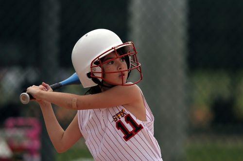 softball batter player