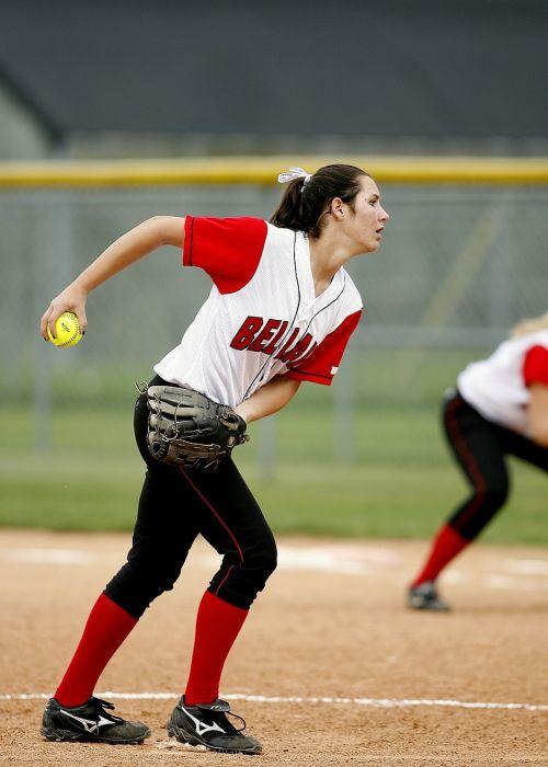 softball pitcher girl