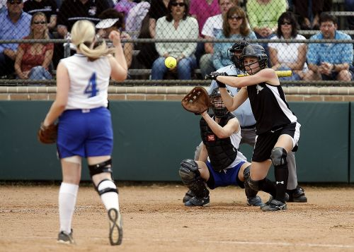 softball game girls