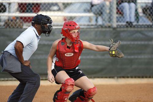 softball catcher umpire