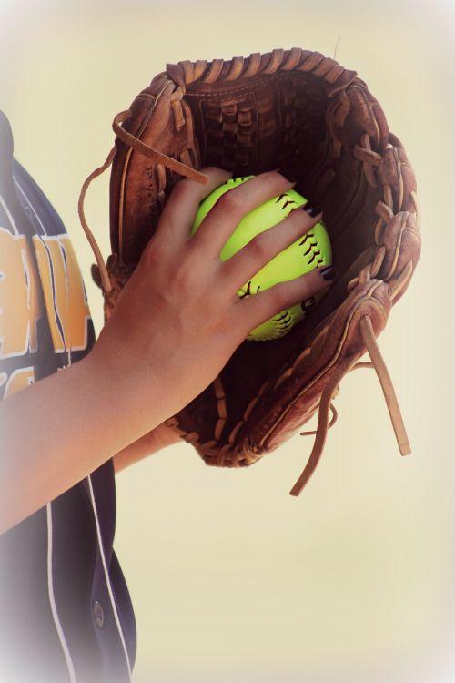 softball leather glove