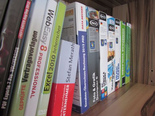 software programs shelf