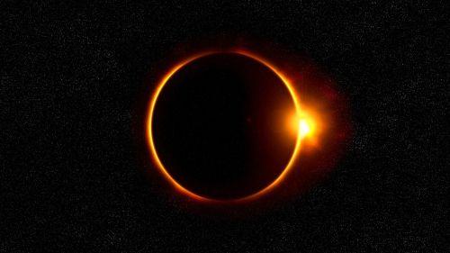 solar eclipse sun flare