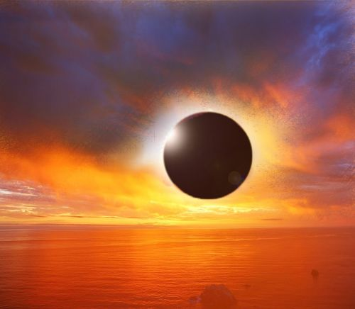 solar eclipse sunset eclipse