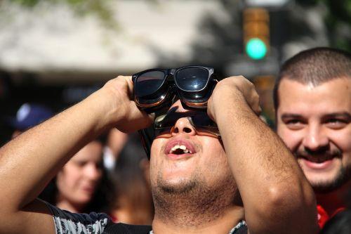 solar eclipse watching sun
