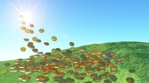 solar energy gold coins sunshine