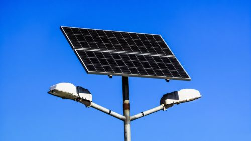 solar panel lamps electricity