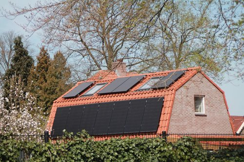 solar panel  house  durable
