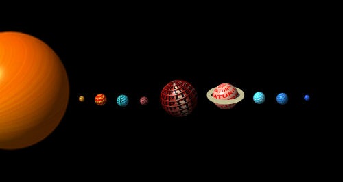 solar system planets space