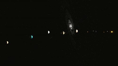 solar system galaxy space