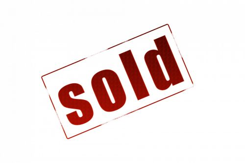 Sold Sign White Background