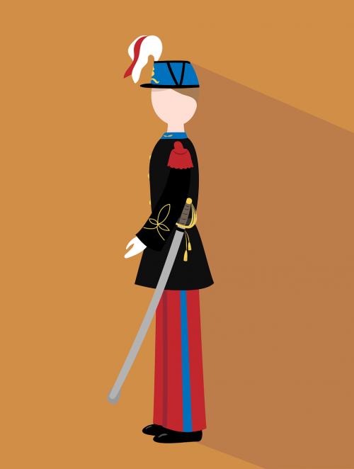 soldier officer flat design