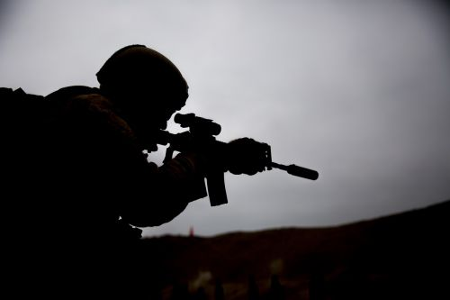 soldier shooting training