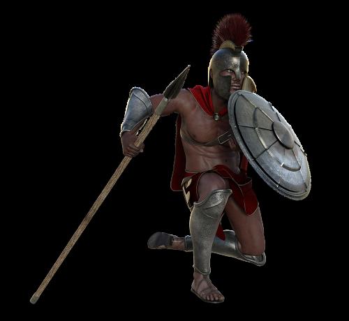 soldier sparta antique