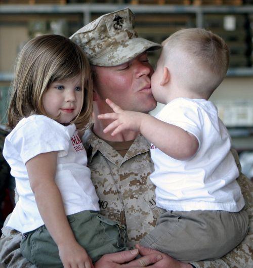 soldier children family