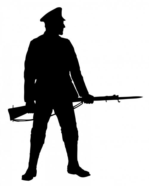 Soldier With Rifle Clipart