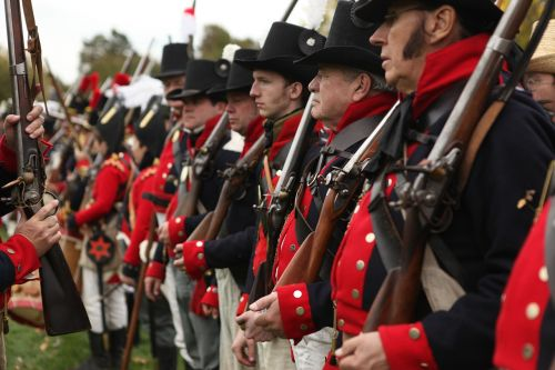 soldiers musket canada