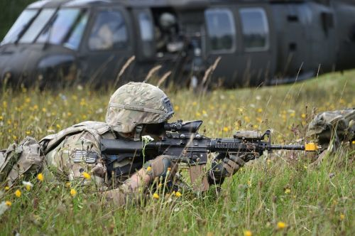 soldiers firearm military