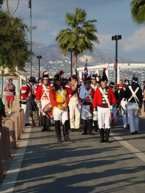 soldiers marching malaga spain soldiers costume