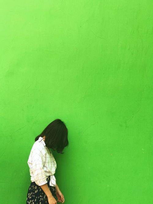 solid silhouette portrait