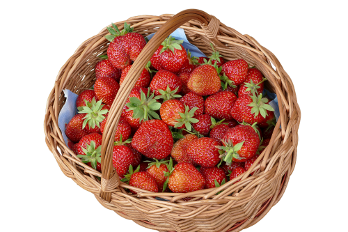 sommerfest strawberries willow basket