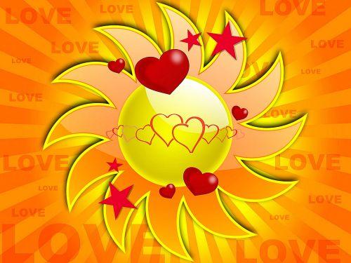 fonas, saulė, meilė, širdis, piktograma, vyras, moteris, plakatas, kortelė, atvirukas, rūgštus & nbsp, burnos, saulės šviesa