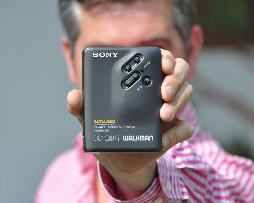 sony walkman man