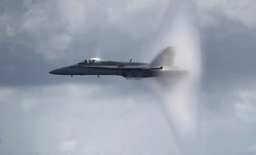 sound barrier navy jet supersonic