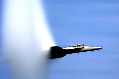 sound barrier broken navy jet
