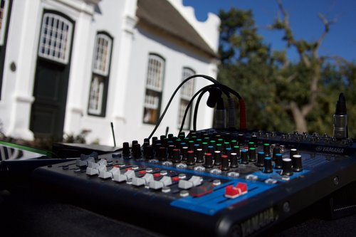 sound desk  mixer  sound