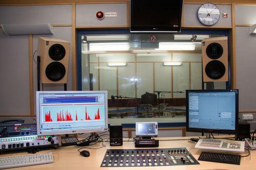 sound studio speaker cab director desk