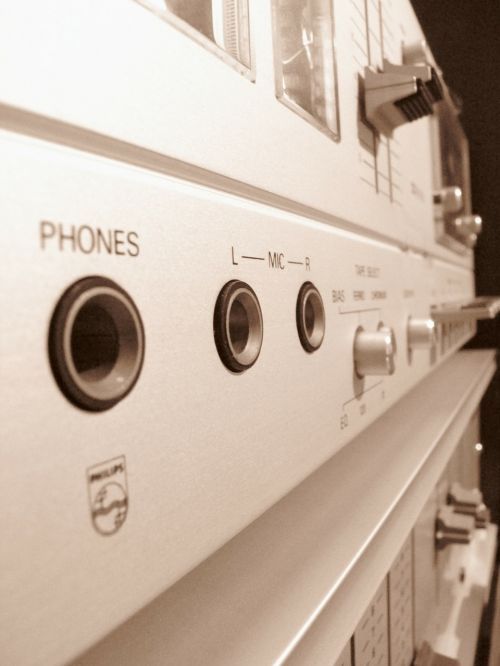 sound studio tape deck technology