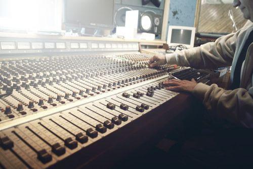sound studio recording faders