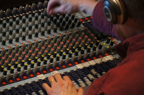 sound studio mixer fader