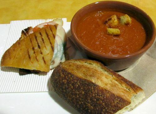 soup sandwich bread