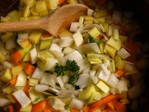 soup greens vegetables stew