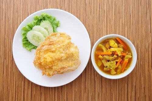rūgštus, rūgštus kiaulienos, ryžiai omletas, maisto, Thailand maisto, skanus, indų, iš prigimties, kiauliena, kiaulių, virimas