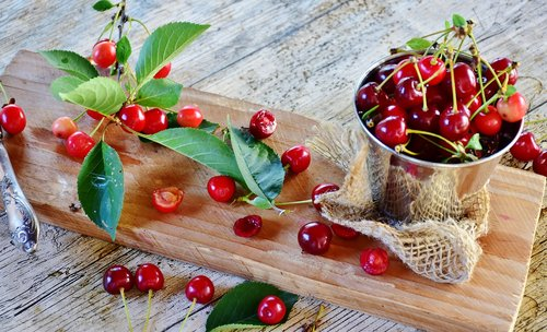 sour cherries  cherries  fruit