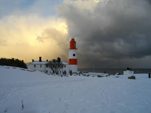 souter lighthouse snow
