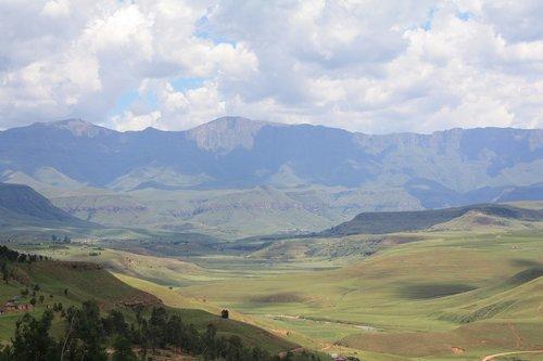 south africa  drakensberg mountains  landscape
