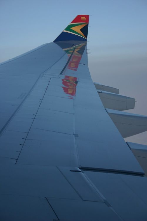 south african airlines wing aircraft