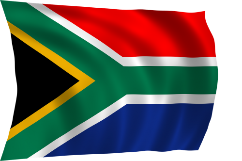 south african flag flag africa