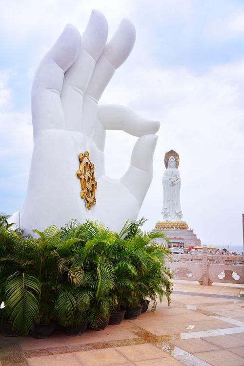 south china sea sanya goddess of mercy buddha statue