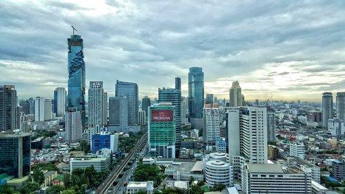 south east asia  thailand  city skyline