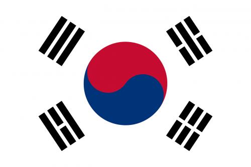 south korea flag national flag