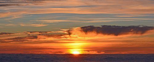 south peak sunset sun